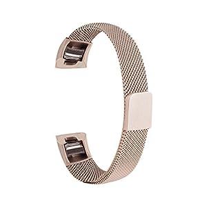 BEWISH Edelstahl Milanese Uhrenarmband für Fitbit Alta/Alta HR Watchband Magnetverschluss