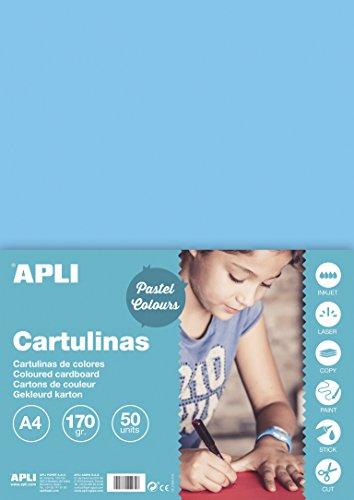 APLI 14236 - Cartulina azul claro A4 170 g 50 hojas