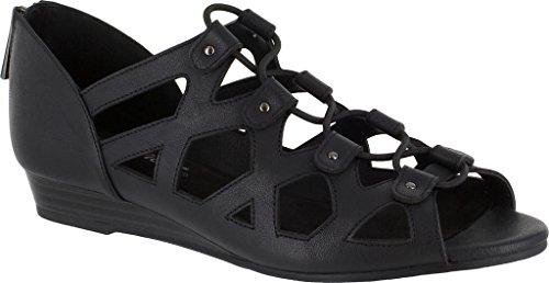 Easy Street Savvy Leder Sandale Black