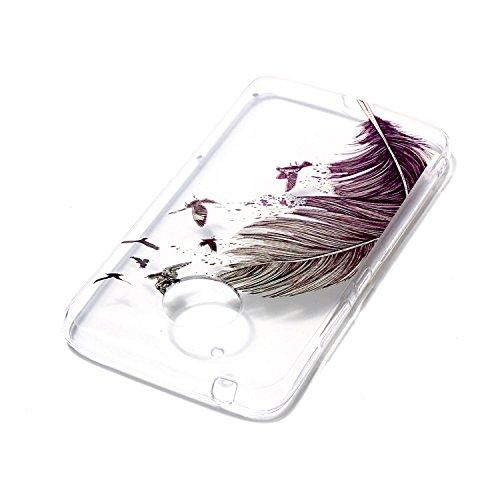[Coque Moto G5 Transparente] Nnopbeclik® Mignonne Colorful Motif Imprimé Style Soft/Doux antichoc Backcover Housse pour Moto G5 Coque Silicone (5.0 Pouce) Antiglisse Anti-Scratch Etui - [a08] a05