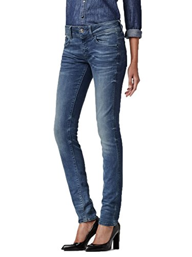 G-STAR Damen Lynn Blade Superstretch Skinny Jeans Blau (medium aged 071)