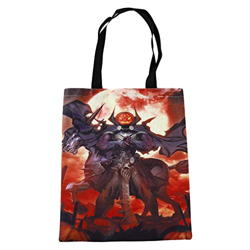 aufstasche Schultertasche Shopping Grocery Halloween Tote Candy Bag, Orange ()