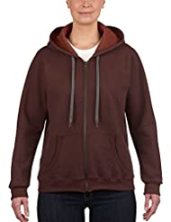 Gildan Gildan Ladies' Vintage Full Zip Hooded Sweatshirt /18700fl - Pull à capuche - Femme