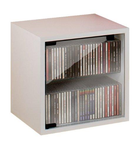 vcm-quattro-cd-dvd-meubles-avec-porte-en-verre-blanc