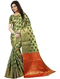 Florence Banarasi Silk Jacquard Saree With Blouse (80-FL-Box_Green1)