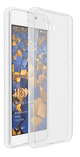 mumbi UltraSlim Hülle für Microsoft Lumia 650 Schutzhülle transparent (Ultra Slim - 0.55 mm)