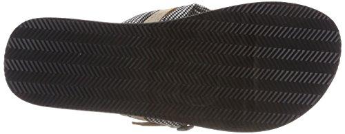Tamaris Damen 27109 Pantoletten Schwarz (Blk Vichy Comb)