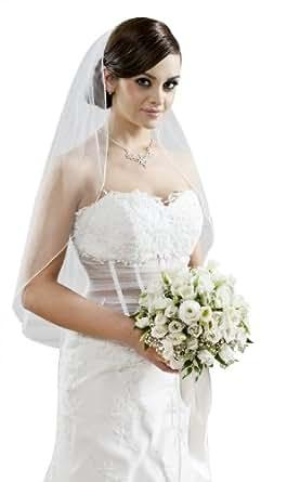 Mgt shop brautschleier creme ivory bekleidung for Brautschleier ivory einlagig