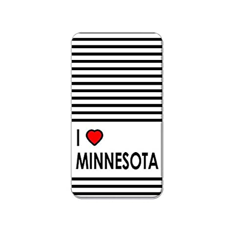 I Love Heart Minnesota Metal Lapel Hat Shirt Purse Bag