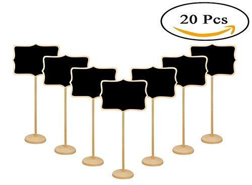 Mini Tafeln, 20PCS Holz kleine Tafel Anzeichen Tischkarte für Hochzeiten, Parteien, Tisch Zahlen, Speisen Zeichen und besonderen Anlass Dekoration 20 Pcs