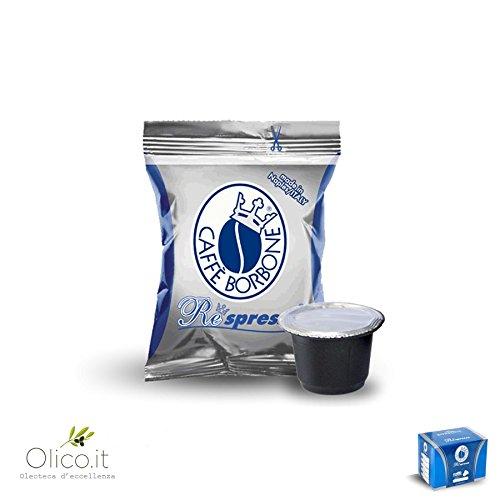 Caffè Borbone Blue Blend - 50 Nespresso ® Compatible cápsulas de café Espresso Italiano Made in Nápoles
