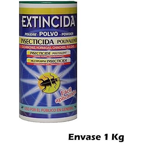 EXTINCIDA POLVO jardinería doméstica cucarachas, chinches, pulgas, hormigas...