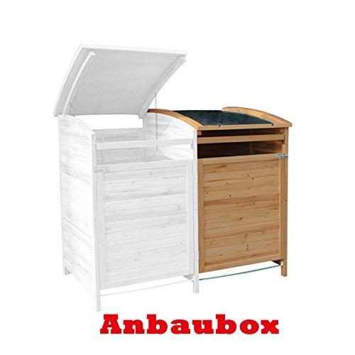 MTB Mülltonnenbox Holzverkleidung mit Deckel Türe 240 L. Gartenbox erweiterbar (Erweiterung)