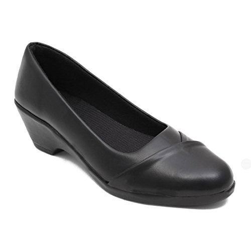 Adjoi Steps Stylish Formal Shoes for Women/New Arrival Black Formal Belly Shoes for Women/Light Weight Formal Belly Shoes_as_w103_Black