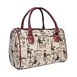 Women's travel bag/canvas weekend duffle bag / Coffee, Tea or Me?