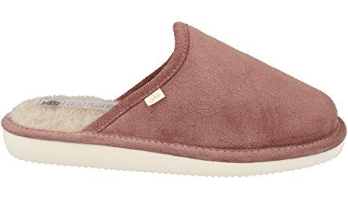 Rbj leather shoes pantofole per donna di pelle di agnello e di lana naturale (37 eu, rosa 972)