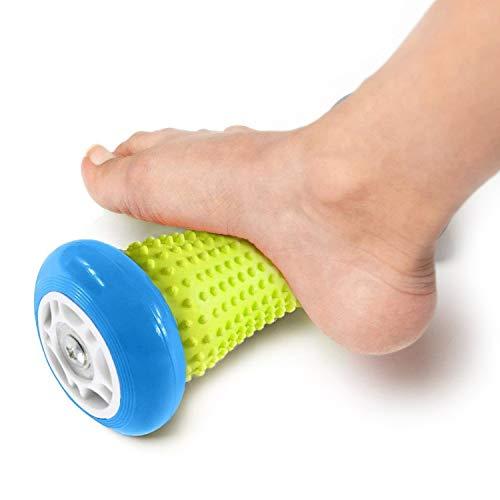 New Thinking, massaggiatore plantare a rullo, rullo di esercizio per polsi e avambracci, strumento di recupero per fascite plantare, ecc, Blue