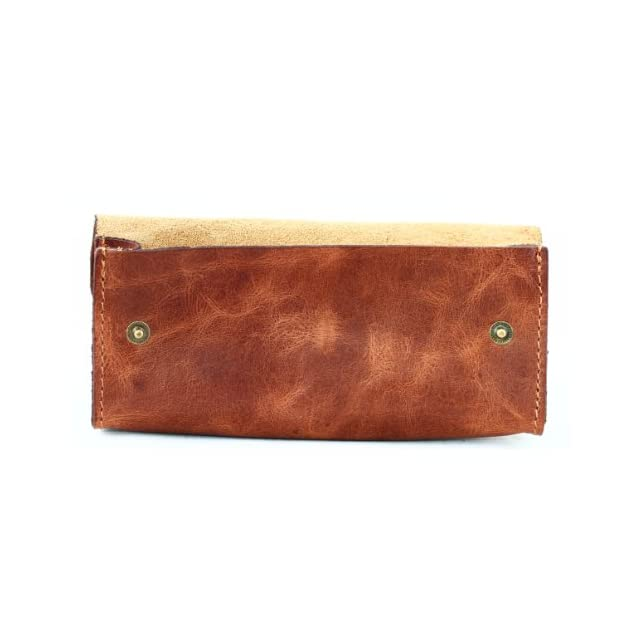 a47c56d144f ... marron PAUL MARIUS grande trousse en cuir fermeture par bouton pression  LA TROUSSE DE PAUL