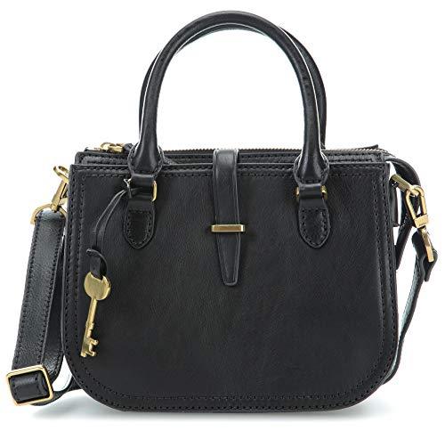 Fossil Damen Handtasche Tasche Ryder Mini Satchel Leder Schwarz ZB7587-001 -