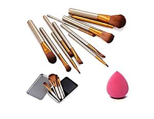 KylieProfessional MAKE-UP BRUSH SET OF 12 WITH MAKEUP PUFF …