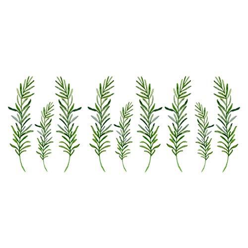 HLHN Wandtattoo Pflanze Inkjet Wall Sticker Abnehmbare DIY Aufkleber Wandaufkleber Selbstklebend Decals für Wohnkultur Wohnzimmer Schlafzimmer