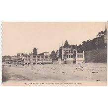 Postal Antigua - Old Postcard : San Sebastián - Caseta Real y Balneario de la Perla