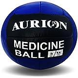Aurion Medicine-Ball -3 kg Blue/Black Rubber No Bounce Fitness Medicine Ball, 3 Kg (Blue/Black)
