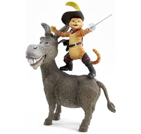Shrek The Third Donkey And Puss In Boots Action Figure 2 Pack Amazon Co Uk Toys Games