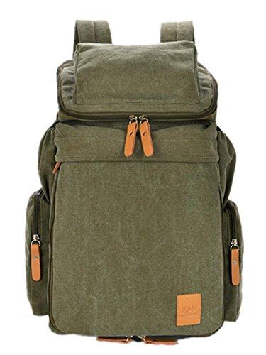 Herren-Rucks?cke-15,6-Zoll-Notebook-Taschen canvas Umh?ngetasche army green