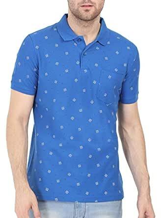 BULLMER Men's Half Sleeve Polo T-Shirt - BUL-BFS086A - Blue/White