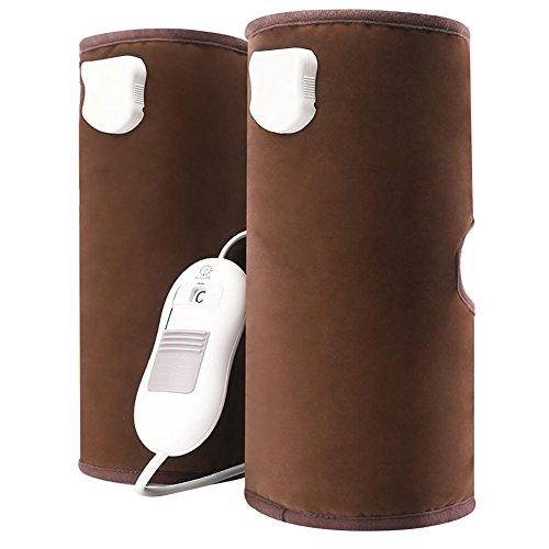 Kevin Elektrische Heizung Pflege Knie Hot Compress Physiotherapie, 3 Temperatur-Auswahl-Automatische Überhitzung Schutz , brown