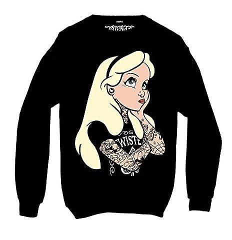 Alice In Wonderland Rebel Tattoo Sweatshirt-S