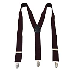 Navaksha Maroon Y-Back Solid Adjustable Suspender