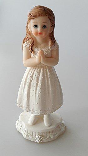 Kommunion Figur Mädchen stehend groß Tortendekoration Dekorationfigur Tischdekoration Dekoration *NEU*