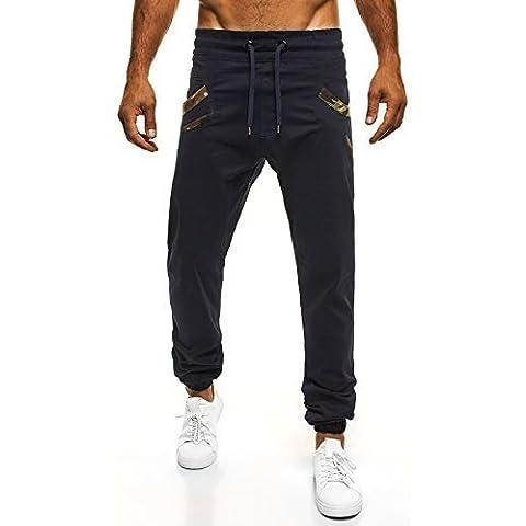 OZONEE Uomo Jogger Chino Jogging Pantaloni Cascante