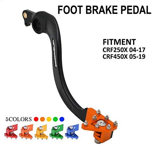 Hintere Bremse Fußpedalhebel - Motorrad CNC Aluminium Hebel für Honda CRF250X CRF 250X 2004-2017 CRF450X CRF 450X 2005-2019 Dirt Pit Bike Motocross Motorrad orange