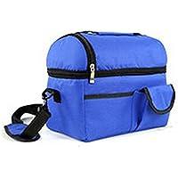 Togather® Portatile grande capacità all'aperto Picnic Basket organizzatore pranzo doppio isolato scatole ice pack Cooler (Ice Cooler Bag)