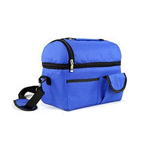 Togather® Portatile grande capacità all'aperto Picnic Basket organizzatore pranzo doppio isolato scatole ice pack Cooler bag seno-conservazione, baby Bottle Bag