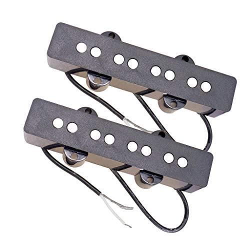 KESOTO Humbucker Pickup Tonabnehmer Set von 2 für 4 String Jazz Bass E-Gitarre, Schwarz