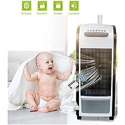 Climatiseur Portable - Mini Climatiseur Mobile, Refroidisseur D'Air Portable,Rafraichisseur D'Air Et Ventilateur, Climatiseur mobile avec télécommande, 20 h d'utilisation continue max (Noir)