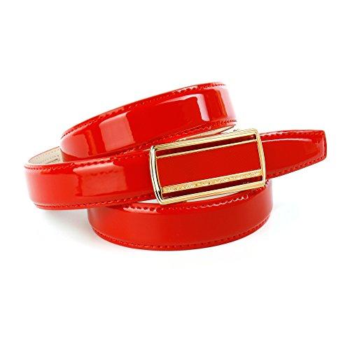 Anthoni Crown Damen C4RF.01L Gürtel, Rot (Rot 050), 6651 (Herstellergröße: 95)