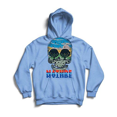 Natur-Schädel - Retten Sie Den Planeten, stützen Sie Wild Lebende Tiere (Small Blau Mehrfarben) (Lustige Selbstgemachte Halloween Kostüme)