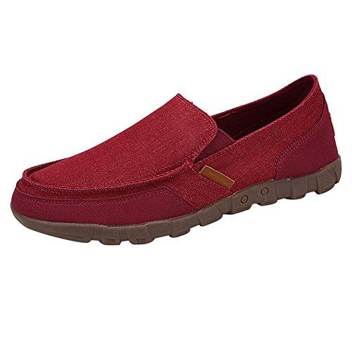 Juleya Zapatos Hombre Mocasines Plano Lona Zapatillas Entrenadores Zapatos  de Tenis Moda Verano Pumps Cubierta Zapatos 54e3aba5f765