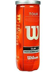 Wilson Tennisbälle, Tour Clay, 3er Dose, Für Sandplätze, Gelb, WRT108900
