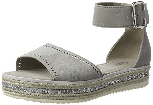 Gabor Shoes Damen Fashion Knöchelriemchen, Grau (Stone 19), 42 EU