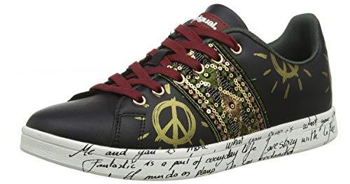 Desigual Damen Shoes Cosmic Exotic Sneaker, Schwarz (Black 2000), 36 EU