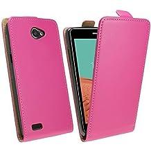 Funda con tapa para LG Bello 2 (X150) en Funda de colour rosa para @ Energmix