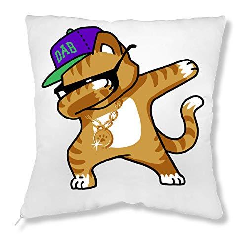 7d33b987e Dabbing Cat Funny Shirt Dab Hip Hop Dabbing Kitten Almohada