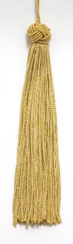 Set von 10Gold Gewebt Head Chainette Quaste, 14cm lang mit 2,5cm Loop, Basic Rand Collection Stil # bh055Farbe: Medium gold-B7 -