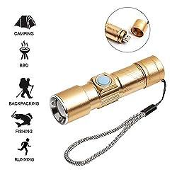 Layopo Mini Led Taschenlampe Usb Ladekabel Teleskop Fokussierung Taschenlampe Wiederaufladbar Taschenlampe Cob Teleskop Fokus Usb Ladekabel Wasserdicht Beleuchtung